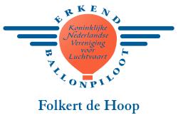Ballonpiloot boven Friesland